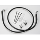 Front Extended Length Black Vinyl Braided Stainless Steel Brake Line Kit +2 in. - 1741-2557