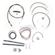 Black Vinyl Handlebar Cable and Brake Line Kit for Use w/12 in. - 14 in. Ape Hangers - LA-8010KT2-13B