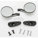 Finish Billet Round Blade Mirrors - S10270B