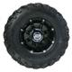 Front Left Gloss Black 387X Tire/Wheel Kit - 0331-1167