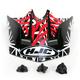 Black/Dark Silver/Red Visor for HJC CL-XY  Fuze Youth Helmet - 272-919