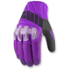 Womens Purple Overlord Mesh Gloves