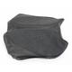 Black GC-Style Waterproof Suede and Smooth Vinyl Seat Kit w/Gel - 0910-AP01JS