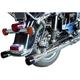 Chrome Tapered One-Piece Dresser Slip-On Mufflers - MHD-304