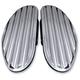 Chrome Finned Passenger Floorboards - C1336-C