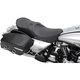 Low-Profile Touring Seat w/EZ Glide Backrest & Black Pinstripe - 0801-0526
