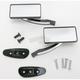 Black Square Billet Aluminum Blade Mirrors - S10280B