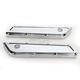 Chrome Beveled Saddlebag Latch Covers for Dressers - 03-535