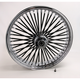 Black 21 x 3.5 Fat Daddy 50-Spoke Radially Laced Wheel for Dual Discs - 0203-0355