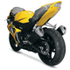 Superbike Rear Yellow Undertail Fender Eliminator - S07GS-SB-YEL