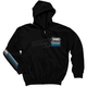 Speed Zip-Up Hooded Black Sweatshirt
