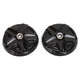 Black/Chrome Five-Spoke End Caps for Knetic Grips - 6357