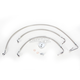 Stainless Steel Brake Line Kit For Use With 15-17 Inch Ape Hangers - LA-8010B16