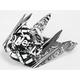 Black/White Youth 5 Series Element Switchblade Visor - 0521
