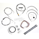Black Vinyl Handlebar Cable and Brake Line Kit for Use w/12 in. - 14 in. Ape Hangers (w/o ABS) - LA-8005KT2B-13B