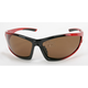 Red Safety C-120 Sunglasses w/Brown Lens - C-120RED/BR