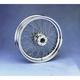 Rear Chrome 16 x 3.5 80-Spoke Laced Wheel Assembly - 0204-0053