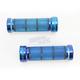 Chrome Blue 1 in. Custom Grips - 866CRBL1