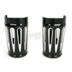 Black Anodized Deep Cut Fork Boot Slider Covers - 20-034