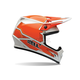 Orange/White MX-9 Blockade Helmet