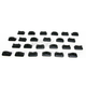 Black .75 in. DoublePro Series Super Lite Backing Plates - 2522-P1-BLK