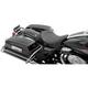 Black/Red Pinstripe Solo Seat w/EZ Glide Backrest Option - 0801-0893
