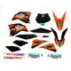 Black 12 Factory KTM Race Team Graphics Kit w/Seat Cover - N40-5647
