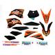 Black 12 Factory KTM Race Team Graphics Kit w/Seat Cover - N40-5647