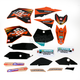 Black 12 Factory KTM Race Team Graphics Kit w/Seat Cover - N40-5645