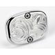 Rear Chrome Engraved Brake Master Cylinder Cover - 03-445