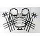 Black Nerf Bars w/Net Heel Guards - Y099037BL