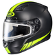 Matte Black/Hi-Viz Neon Green CL-17SN Streamline MC-3HF Snowmobile Helmet w/Electric Shield