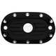 Black Dimpled Rear Master Cylinder Cover - C1160-B