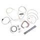 Stainless Braided Handlebar Cable and Brake Line Kit for Use w/12 in. - 14 in. Ape Hangers - LA-8005KT2B-13