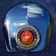 Crown 1.8 Inch Horn Cover Attachment With Veteran US Marine Corps 2-Sided Coin - JMPC-HC-VMARINE