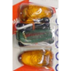 Mini Triangle Flush Mount Marker Lights w/Amber Lens - 25-8340