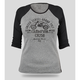 Womens Gray/Black CR250 Baseball 3/4 Sleeve Tee