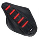 Black/Red Ribbed Seat Cover - 0821-1786