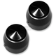 1 in. Black Anodized Night Series Elite Front Axle Caps - TAC101-EN