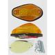 Single Filament Tear Drop Marker Light w/Amber Lens - 25-8058