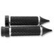 Black Anodized Cross Cut Deadend Grips - TC-769B