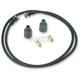 Satin Black Cloth 7mm Spark Plug Wires - 000344-6