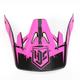 Hi-Viz Neon Pink/Black MC-8F Visor for CS-MX Helmets - 0970-6020-08