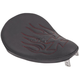 10 in. Wide Small Black Vinyl Spring Solo Seat w/Cross Red Flame - 0806-0009