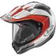 Red/White/Black XD4 Flare Helmet