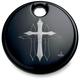 Black Cross Fuel Door Cover - CR-0006-B