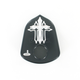 Black Cross Ignition Switch Cover - IC-C002-B