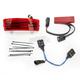 Tri-Bar Dual Intensity LED Fender Tip w/Red Lens - GEN-TRI-2-RED
