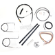 Black Vinyl Handlebar Cable and Brake Line Kit for Use w/Mini Ape Hangers (w/o ABS) - LA-8210KT2A-08B