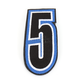 Blue/Black 5 in. Number 5 Patch For Gear Bags - 3550-0242